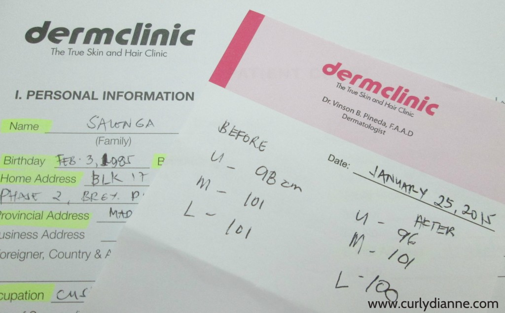 Dermclinic NU measurements
