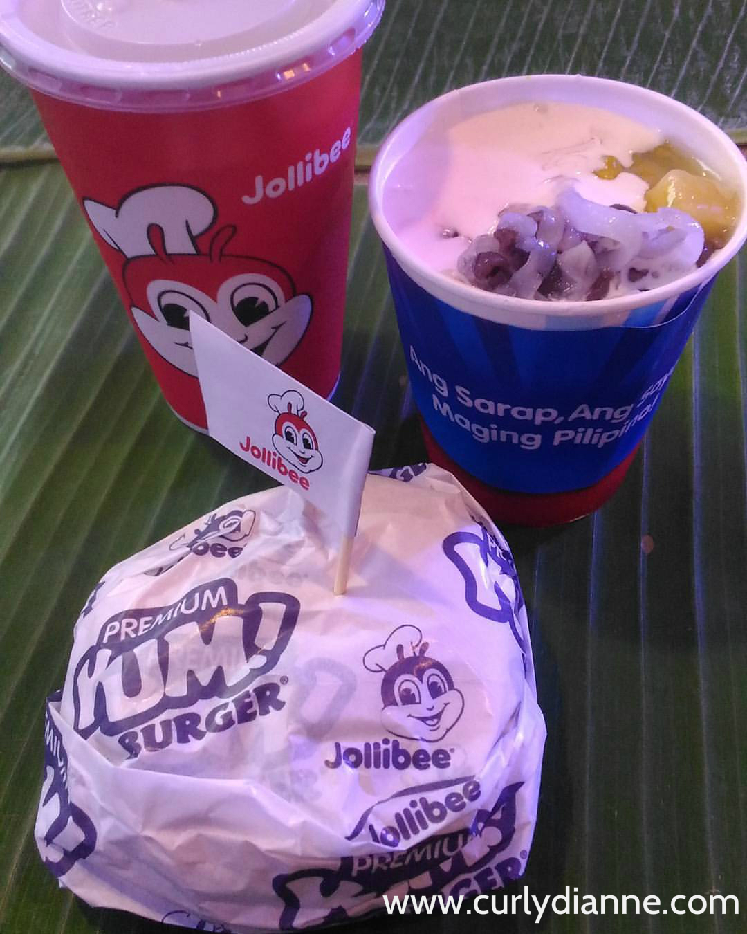 Jollibee newest creation with Adobo Flakes Yum! Burger and Halo-Halo Sundae