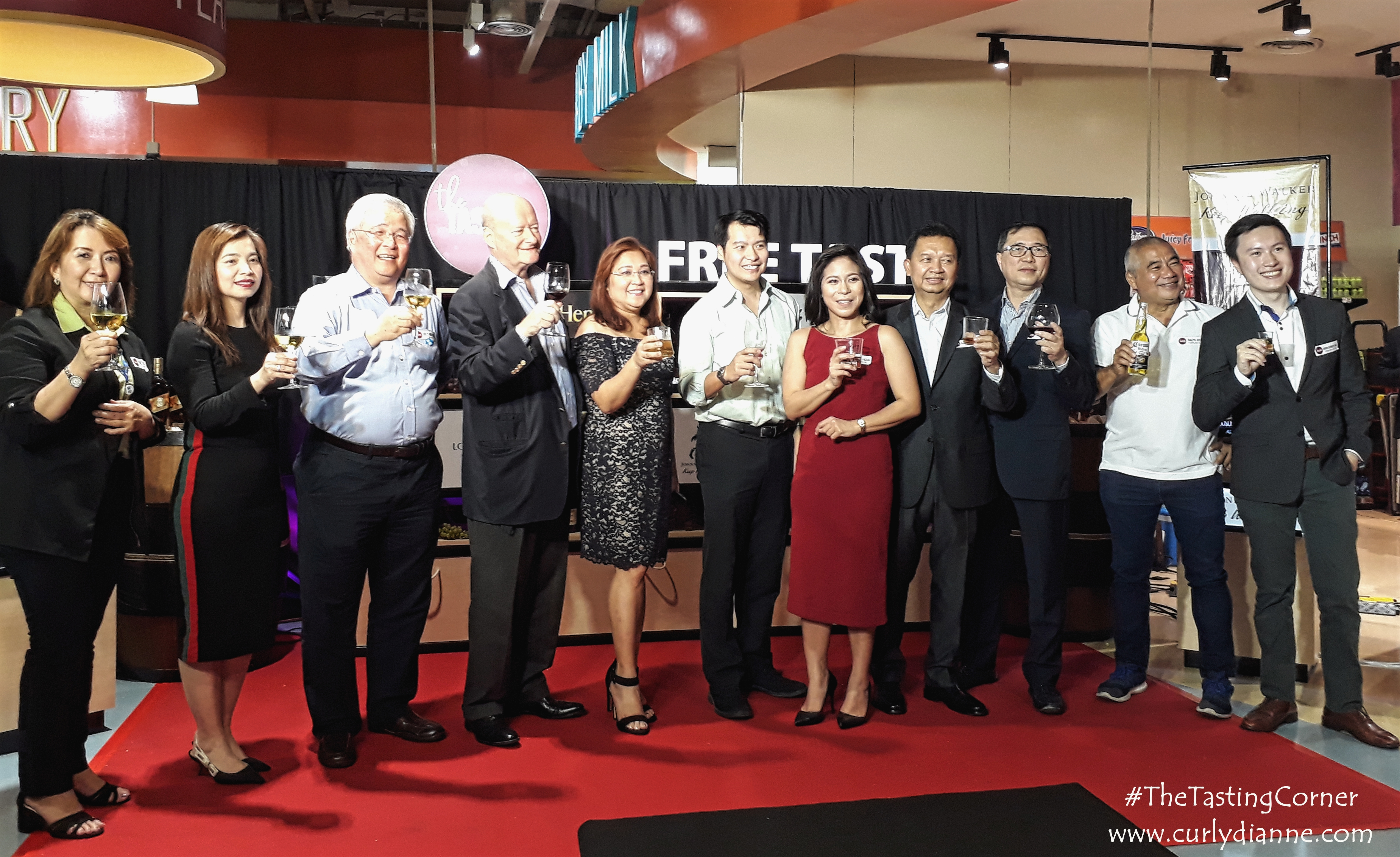 With the Brand Representatives with Blue Mountain and SM at The Tasting Corner