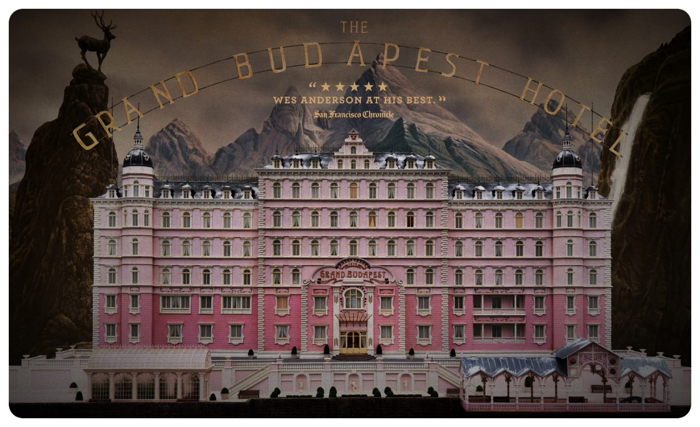 The Grand Budapest Hotel is a 2014 comedy film centering on a concierge who befriends the lobby boy to prove that he is not guilty after he is wrongfully accused of killing an affluent hotel guest.